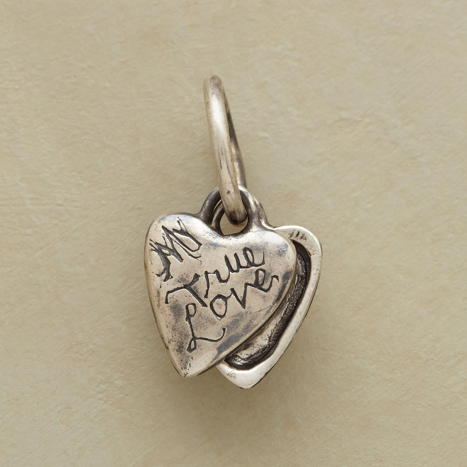 SILVER HEART LOCKET CHARM: View 2