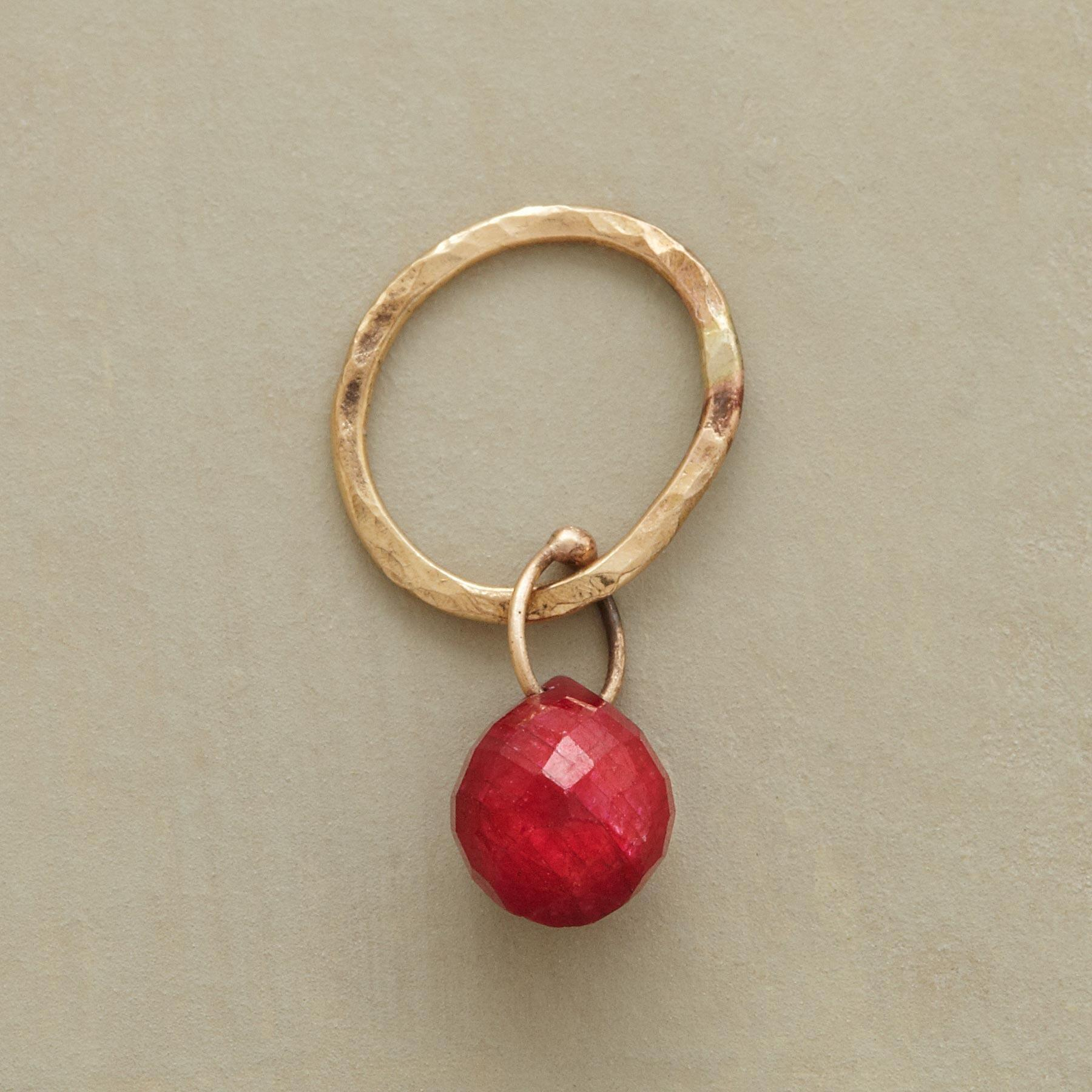 GOLD FACETED BIRTHSTONE CHARMS: View 1