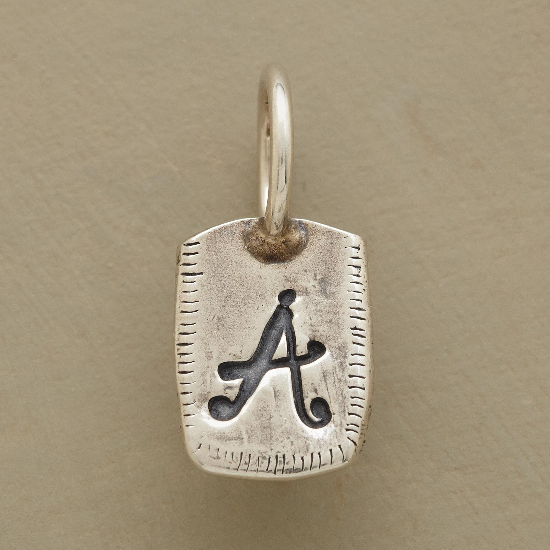 SILVER PERSONALIZED INITIAL CHARM: View 1