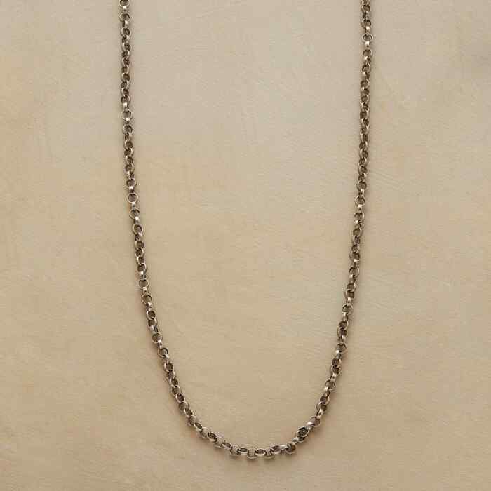 """20"""" STERLING SILVER CHAIN CHARMSTARTER NECKLACE"""