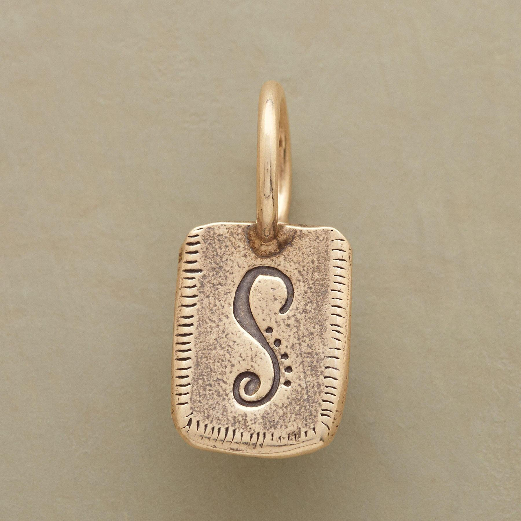 GOLD PERSONALIZED INITIAL CHARM: View 1