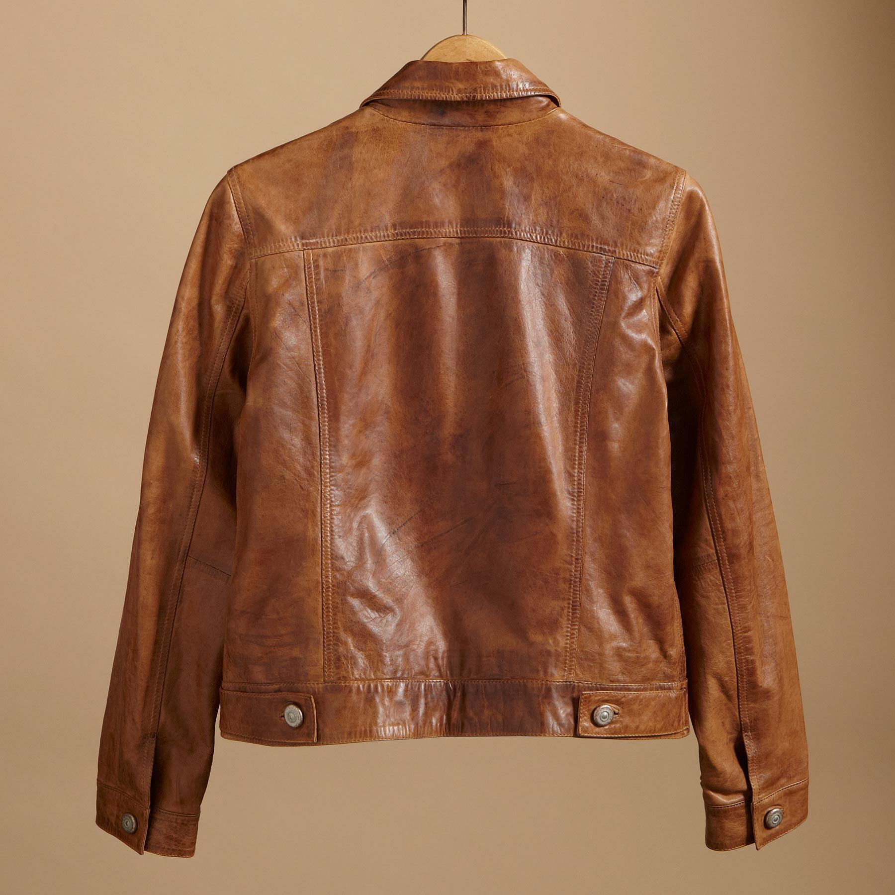 RANGE RIDER LEATHER JEAN JACKET: View 2