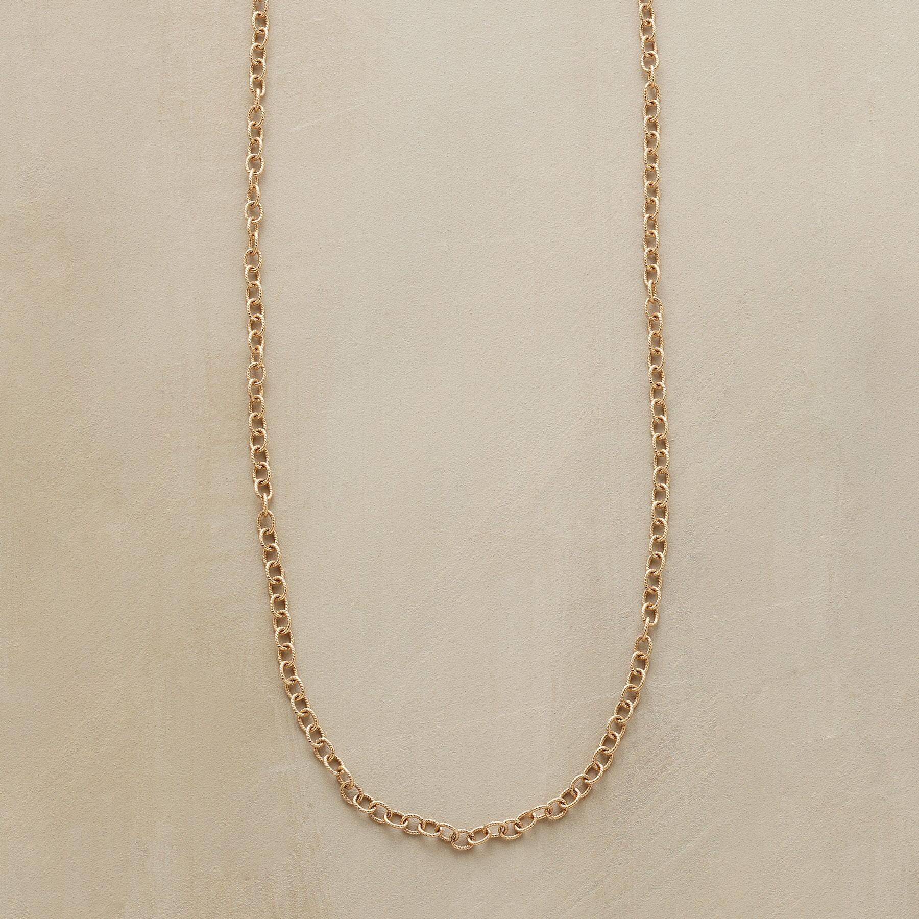 "20"" GOLD CHAIN CHARMSTARTER NECKLACE: View 1"