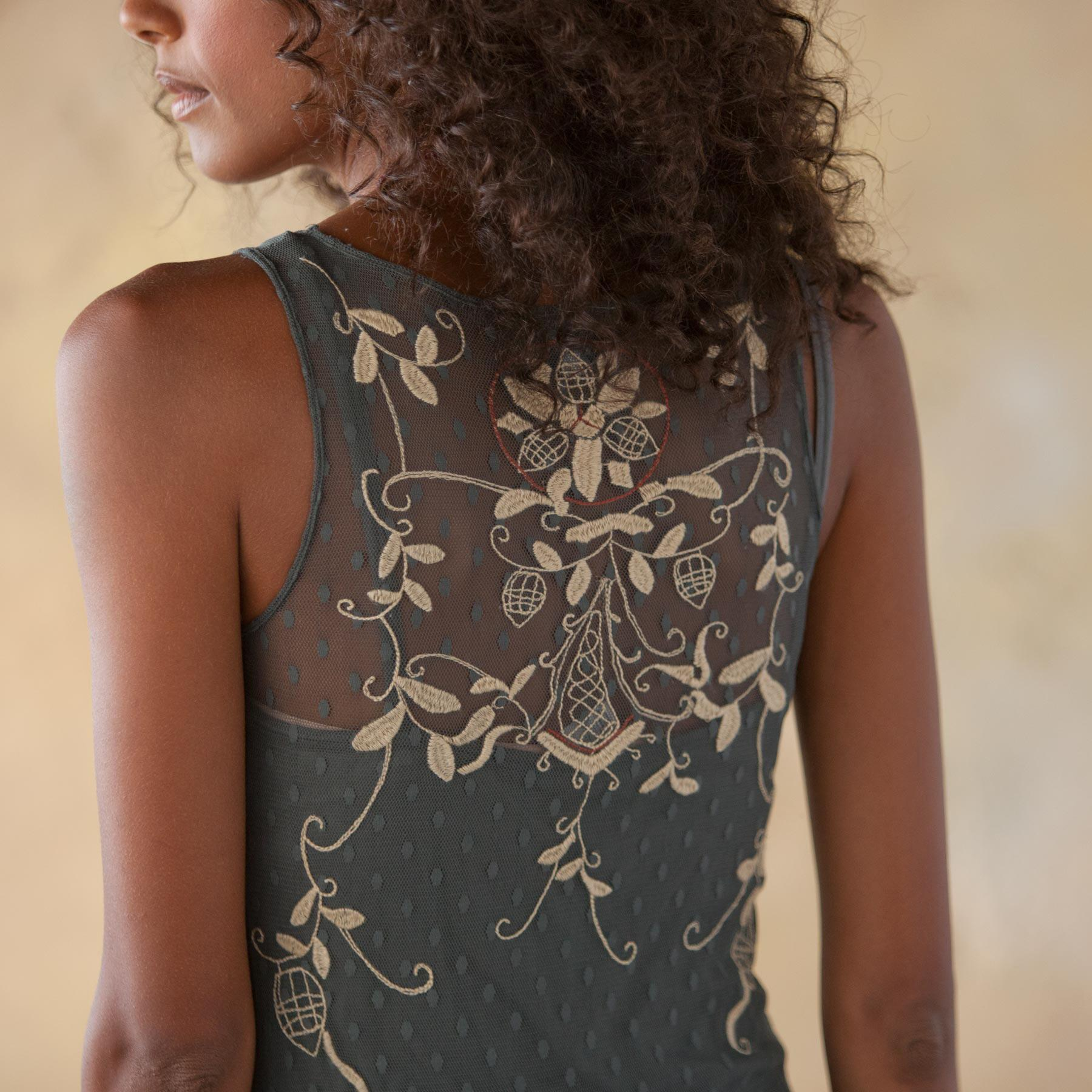 COLETTE EMBROIDERED DRESS: View 2