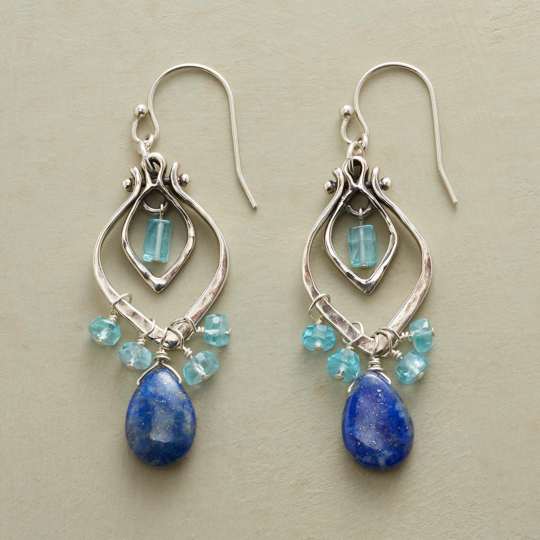 TEARS EN BLEU EARRINGS: View 1
