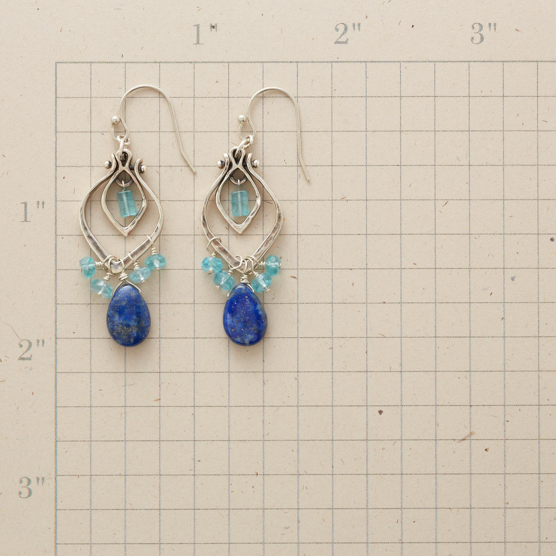 TEARS EN BLEU EARRINGS: View 2