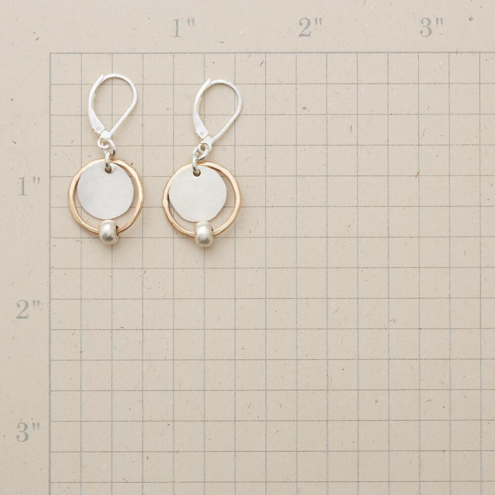SILVER SATELLITE EARRINGS: View 2