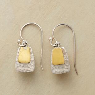 BRASS TABS EARRINGS