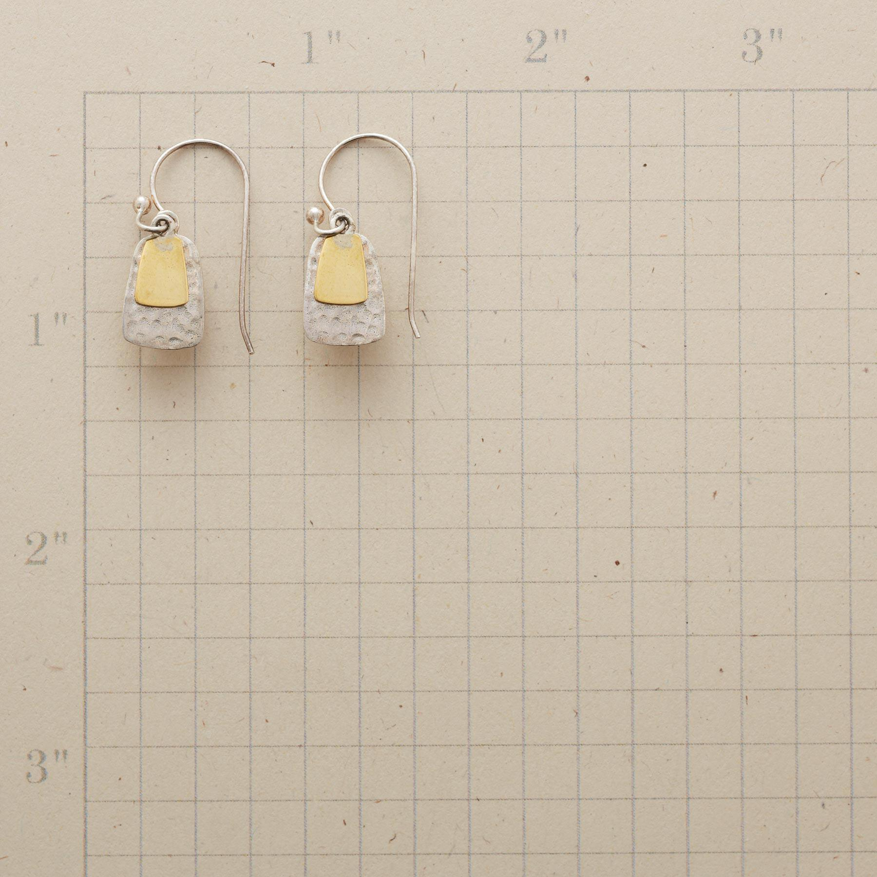 BRASS TABS EARRINGS: View 2