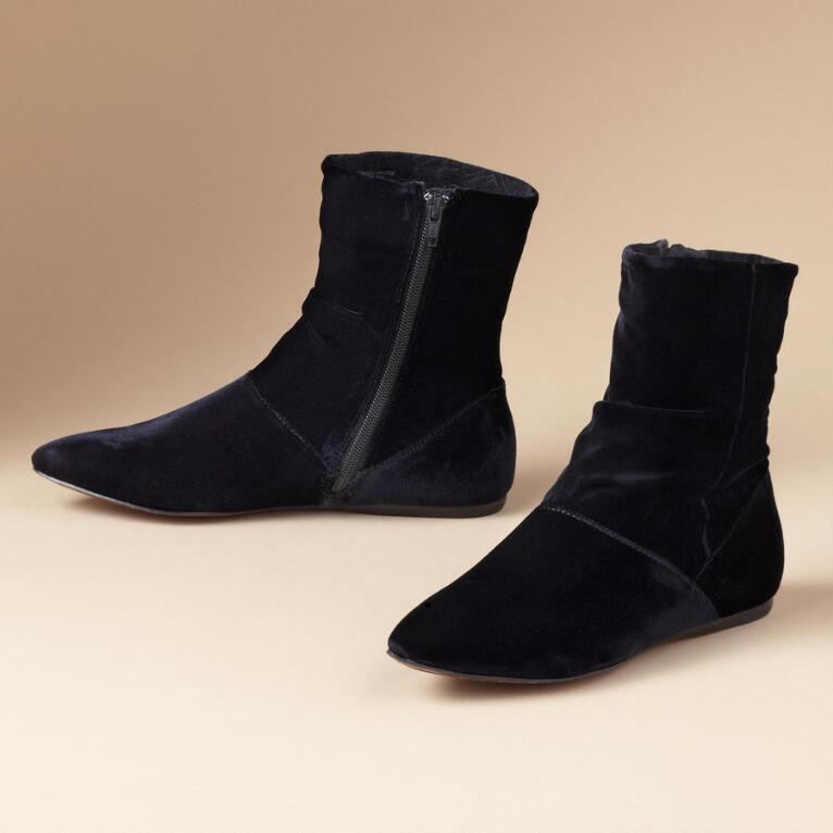 BRIGID NERO VELVET BOOTIES