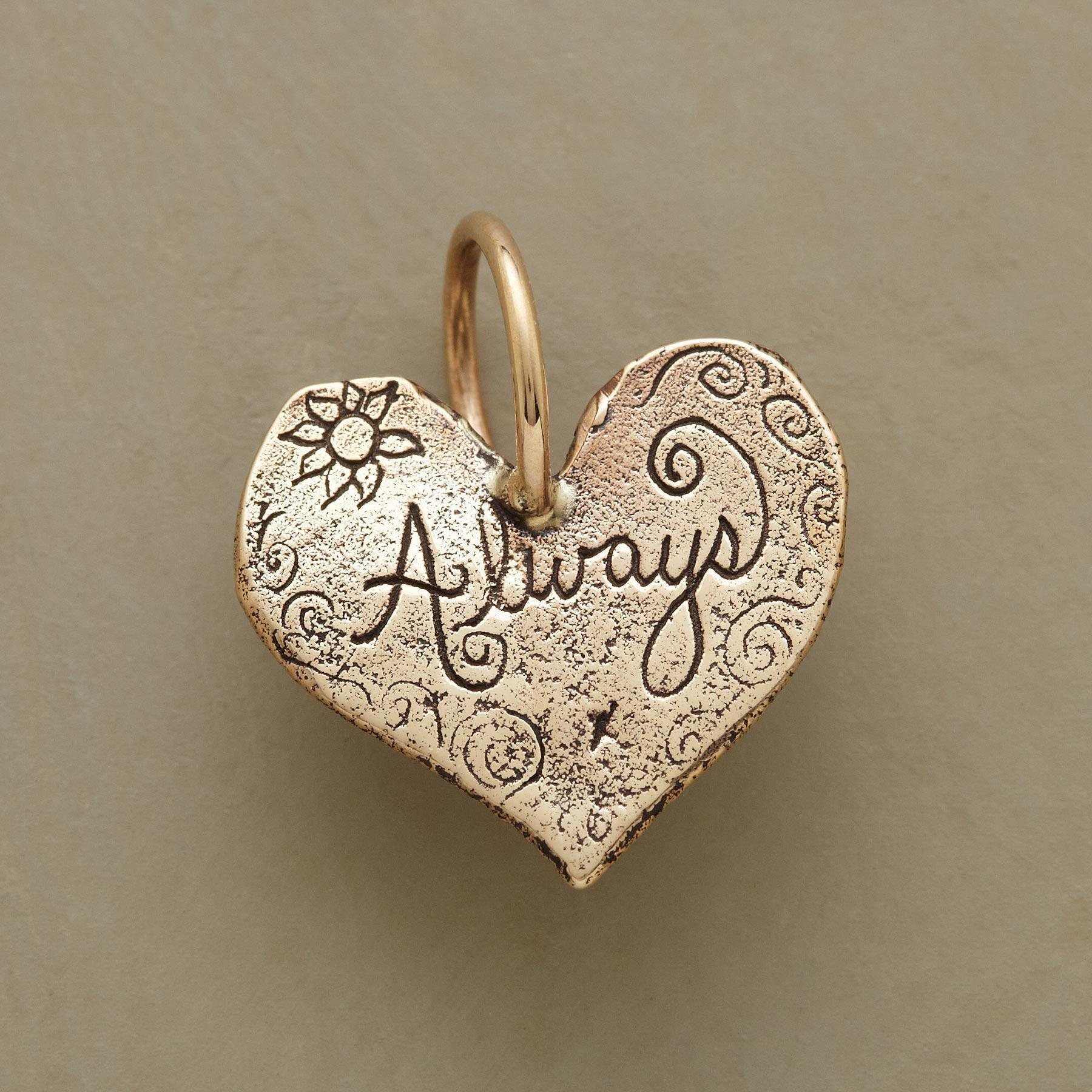 GOLD ALWAYS HEART CHARM: View 1