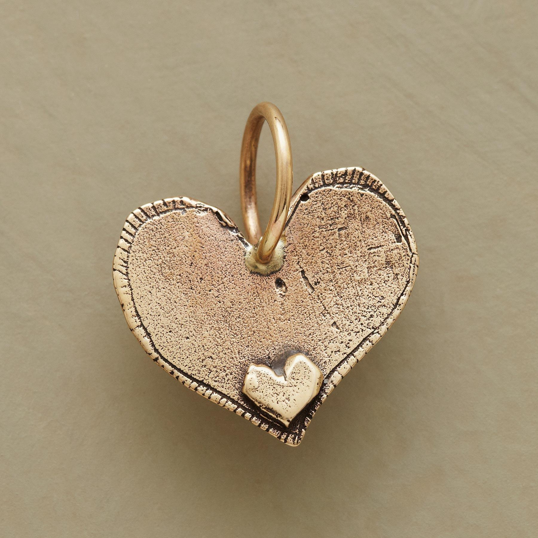 GOLD ALWAYS HEART CHARM: View 2