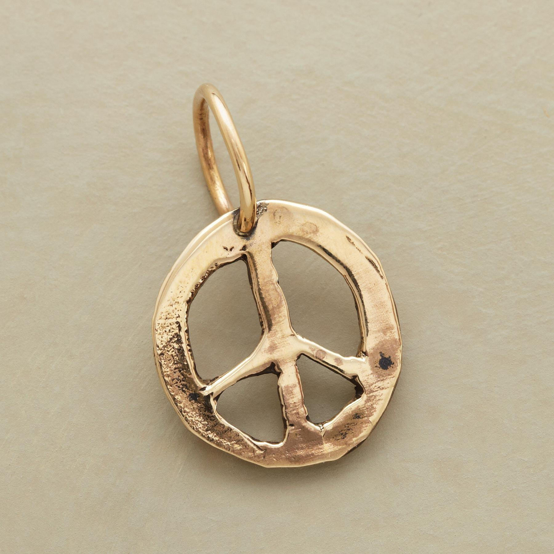 GOLD PEACE CHARM: View 1