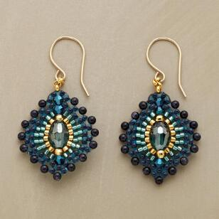 BLUE PLUME EARRINGS