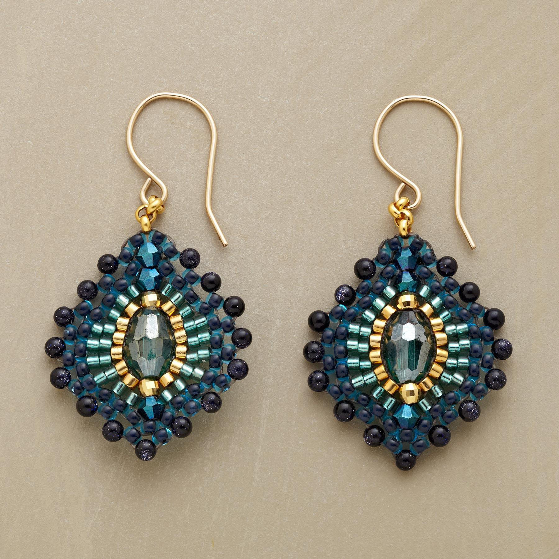 BLUE PLUME EARRINGS: View 1