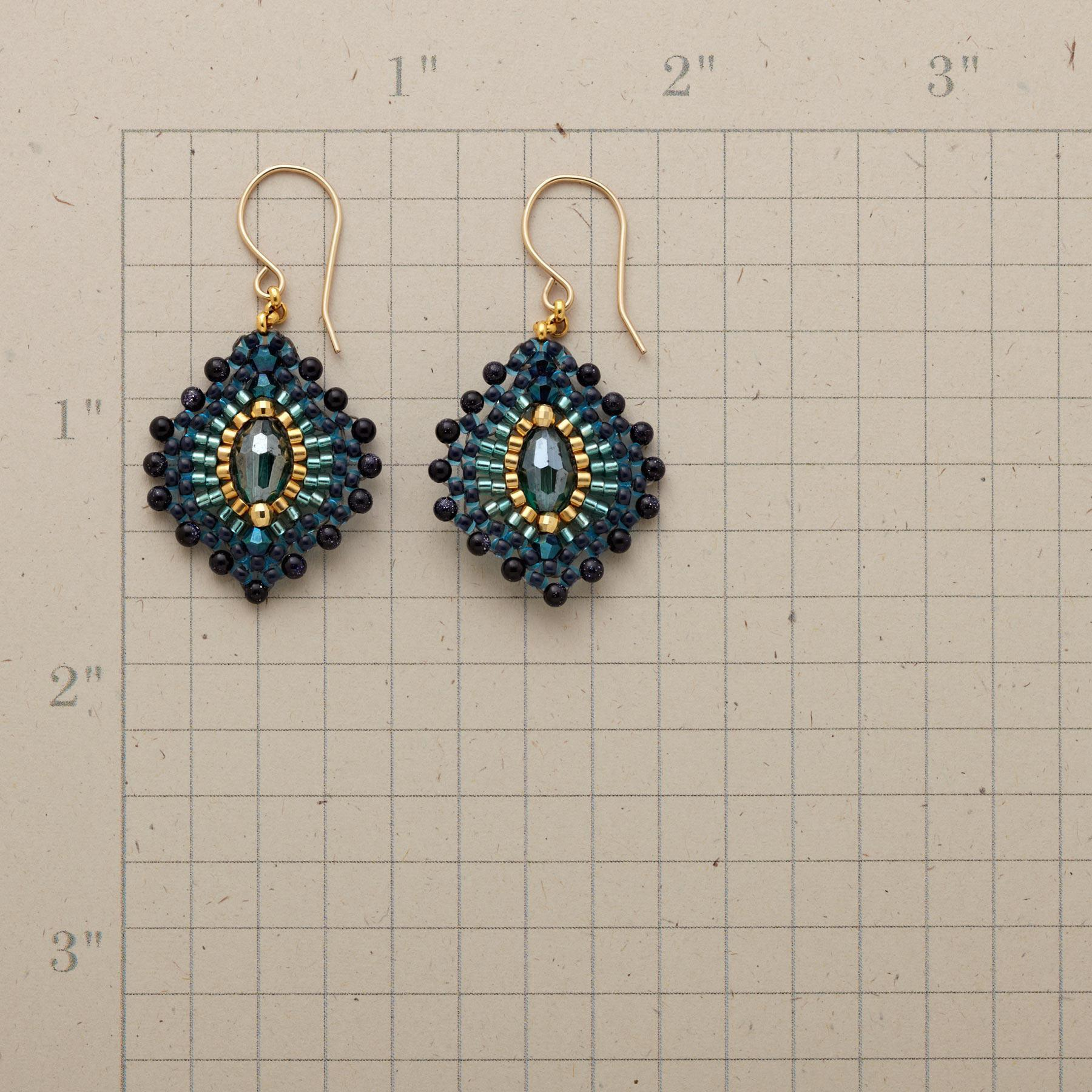 BLUE PLUME EARRINGS: View 2