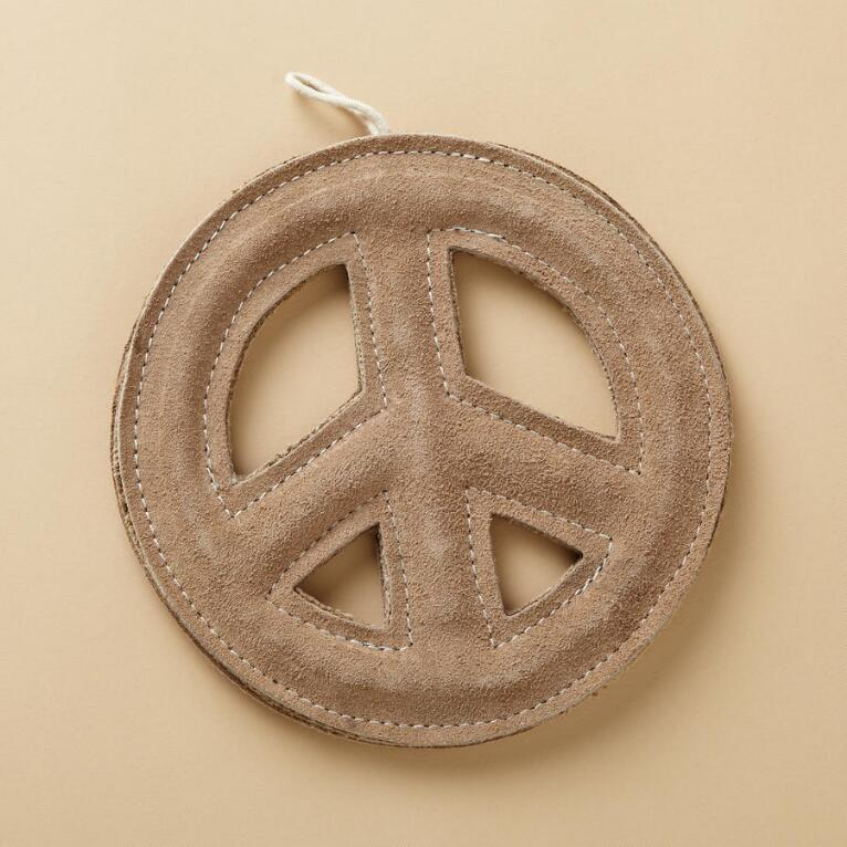 PEACE TOSS & TUG DOG TOY