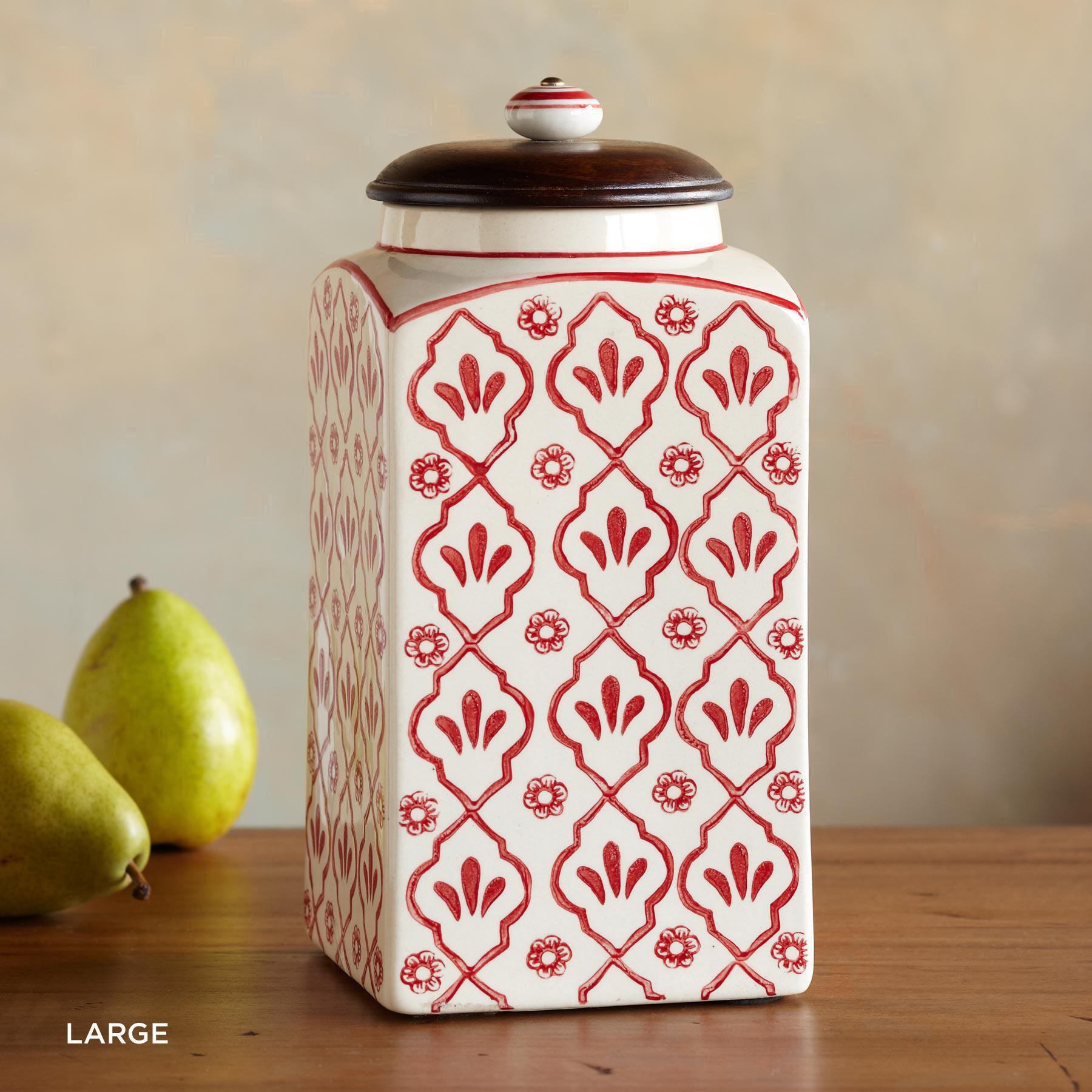 RED FLOWER CANISTERS: View 4