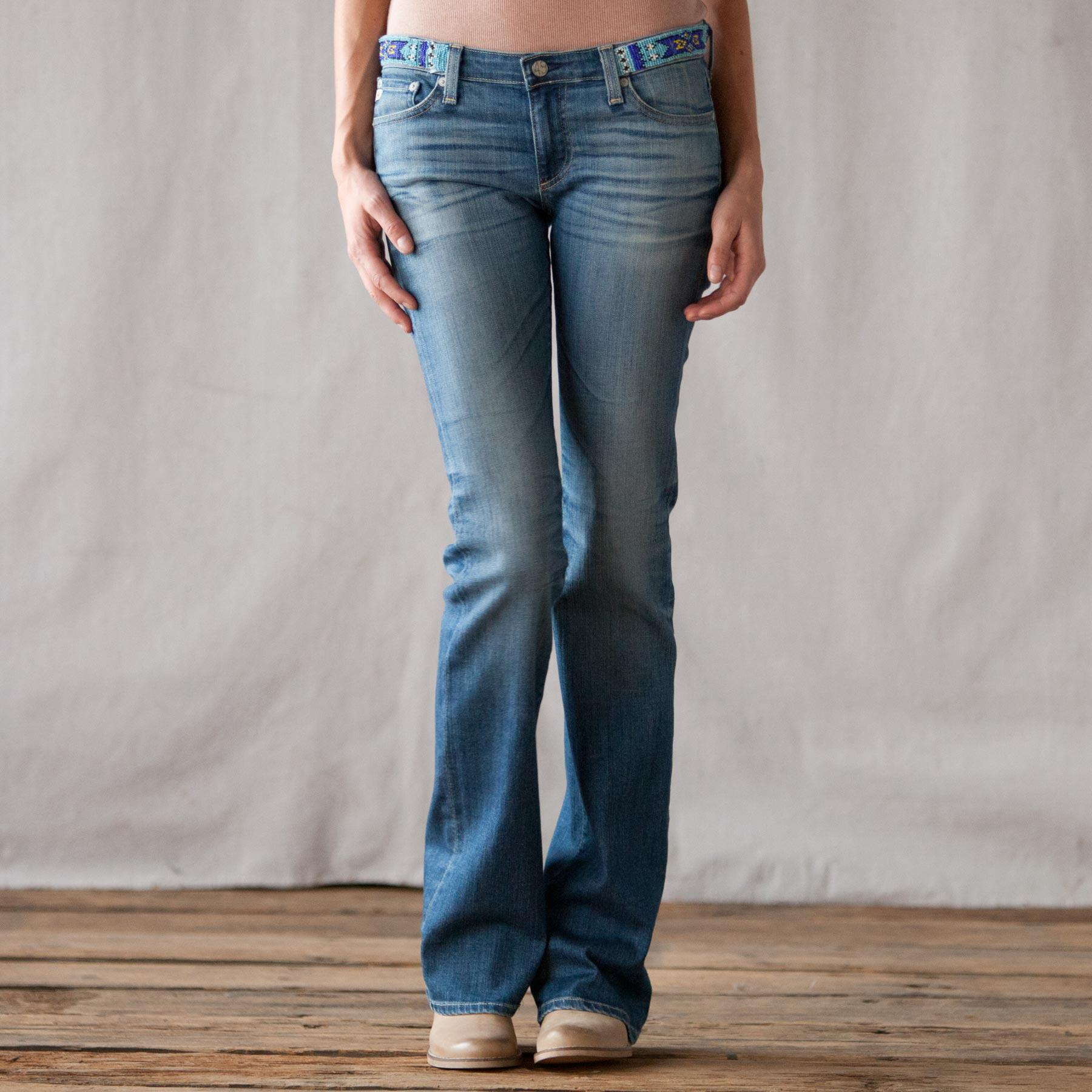 BEADED A G JEAN: View 1