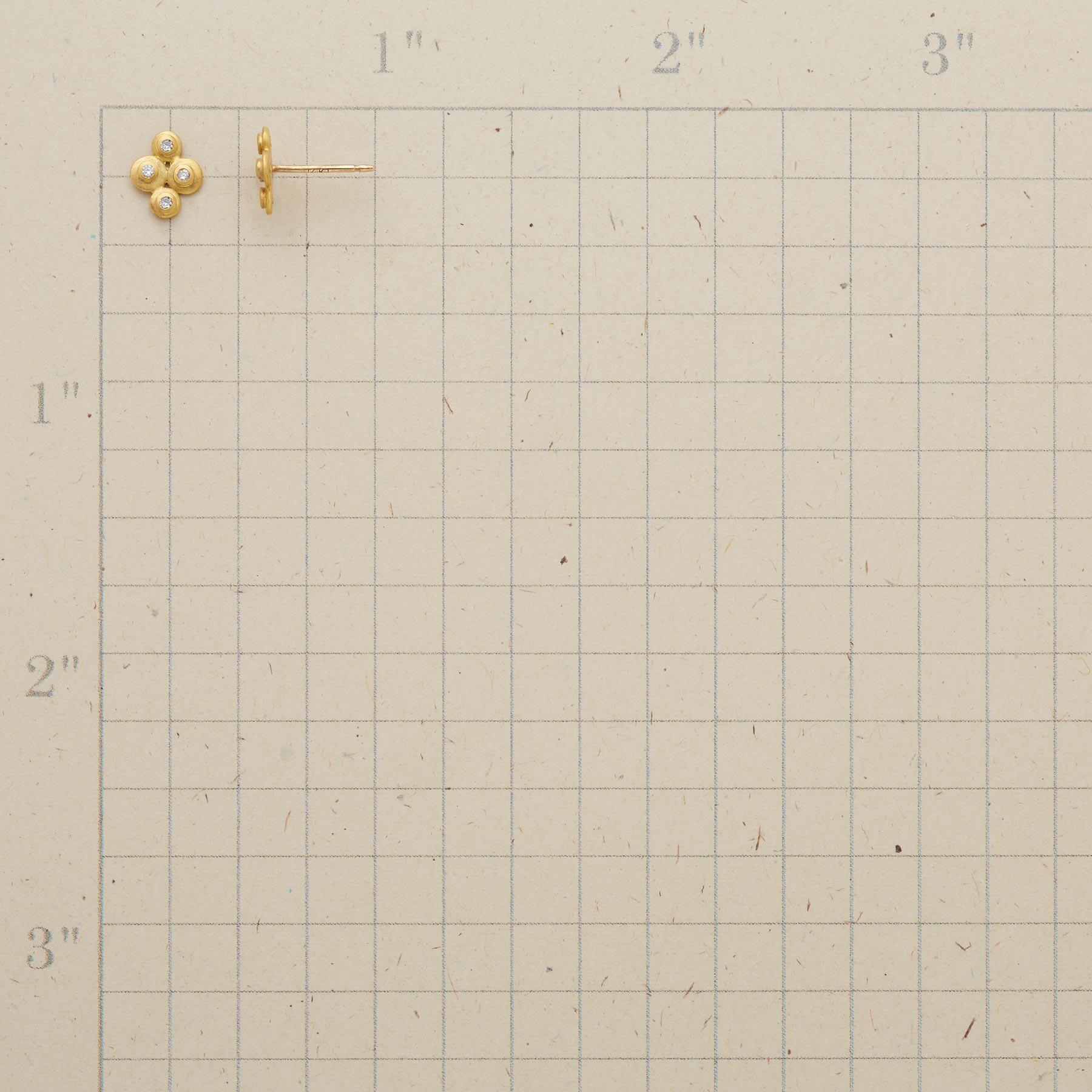 DIAMOND DISC EARRINGS: View 2