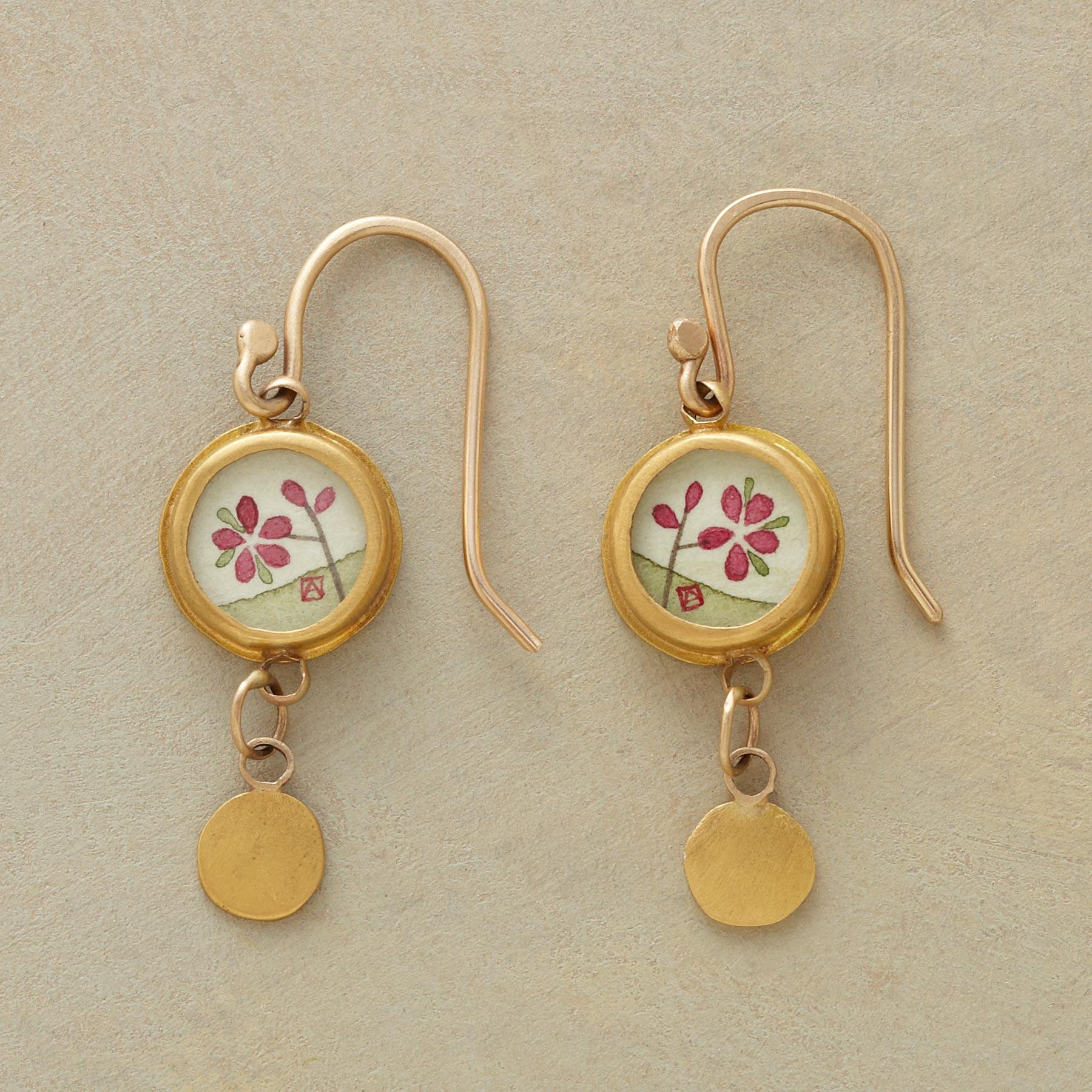PLUM BLOSSOM EARRINGS: View 1