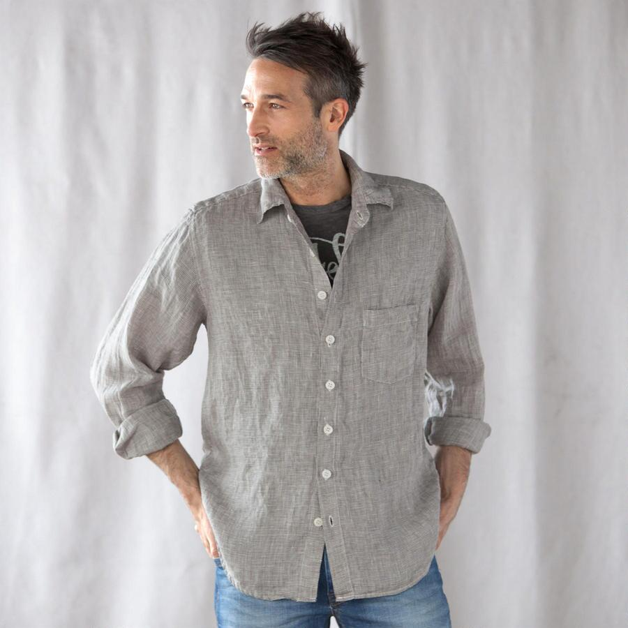 MINI CHECK LINEN SHIRT