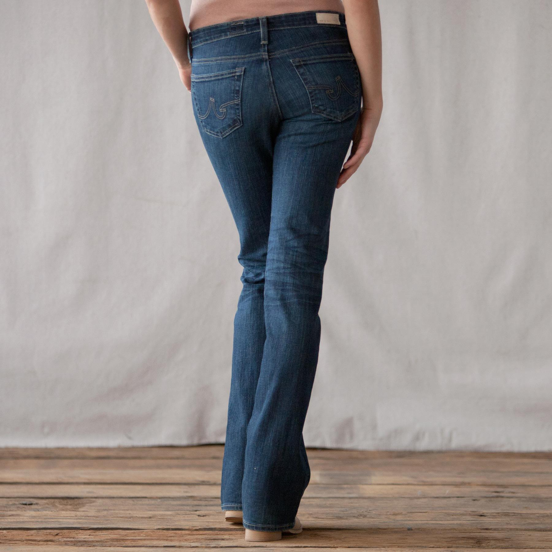 A G ANGEL BOOTCUT JEANS: View 2