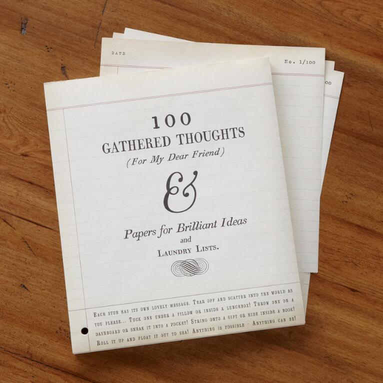 100 GATHERED THOUGHTS FOR FRIENDS