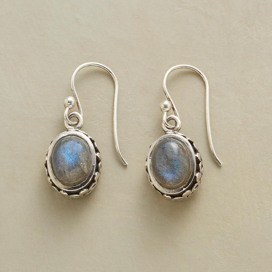 CURLY LABRADORITE EARRINGS
