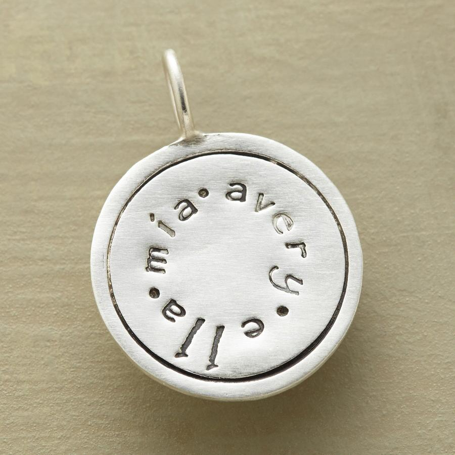 PERSONALIZED CIRCLE CHARM