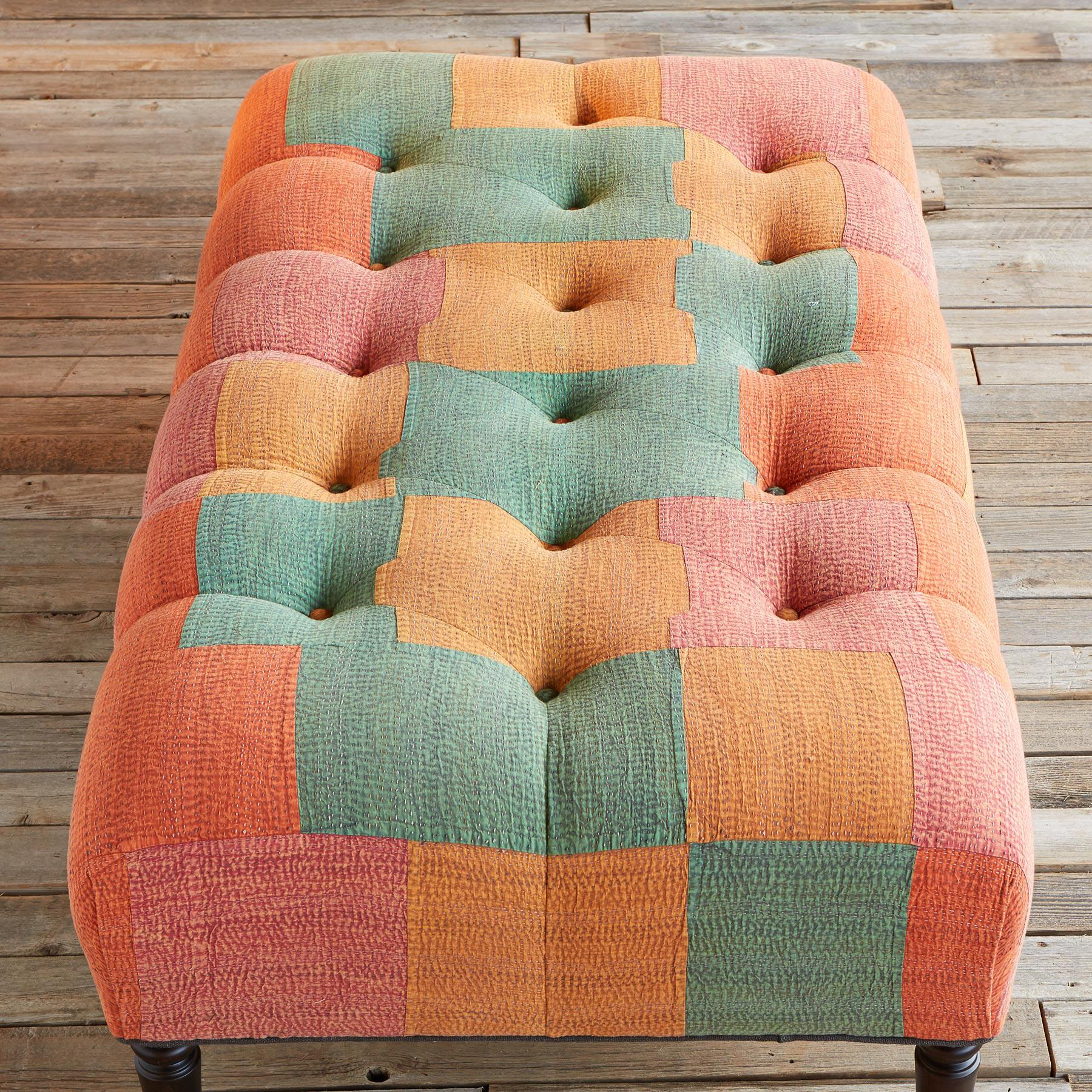 PARVATI UPHOLSTERED OTTOMAN: View 2