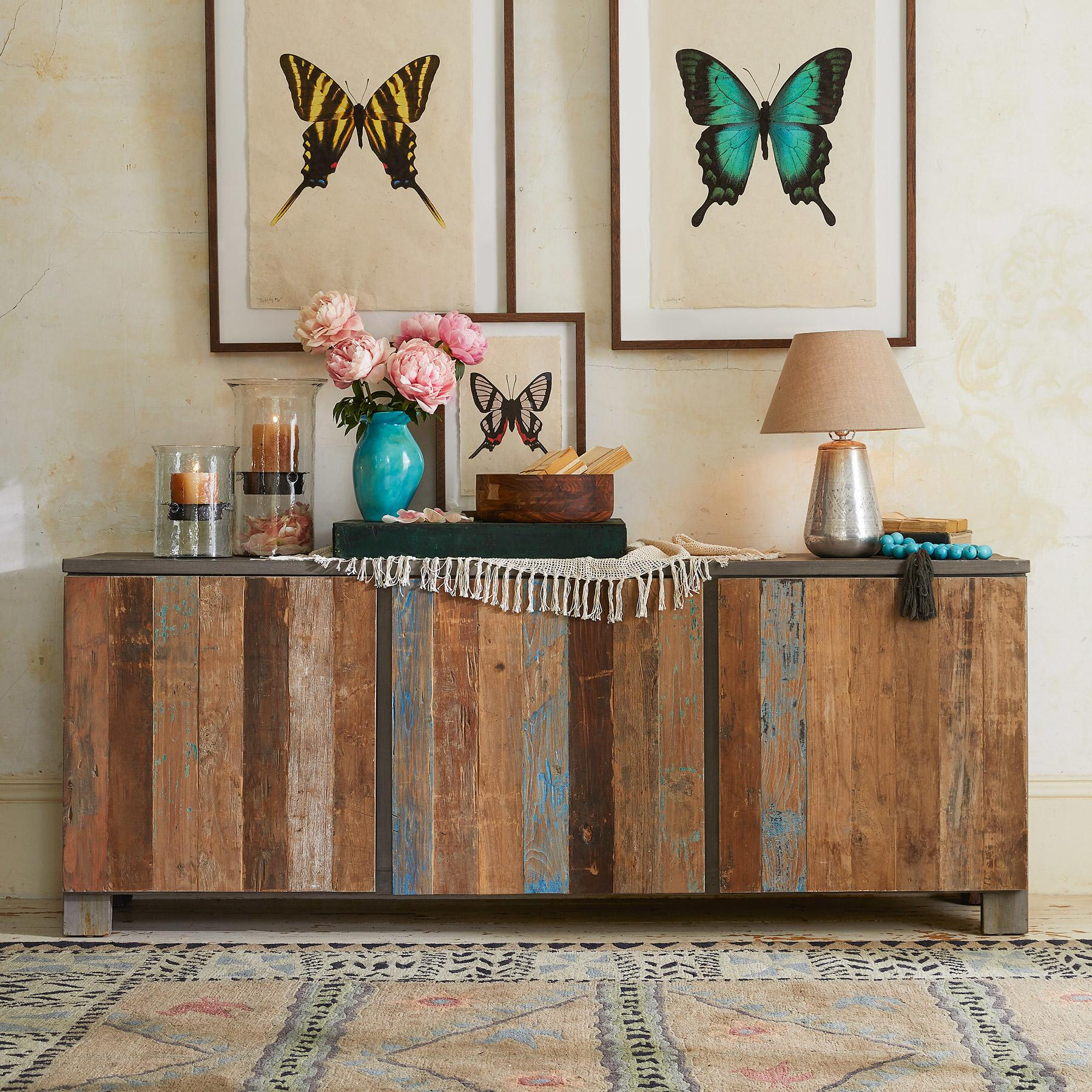 RECLAIMED BARNWOOD LARGE CONSOLE: View 1