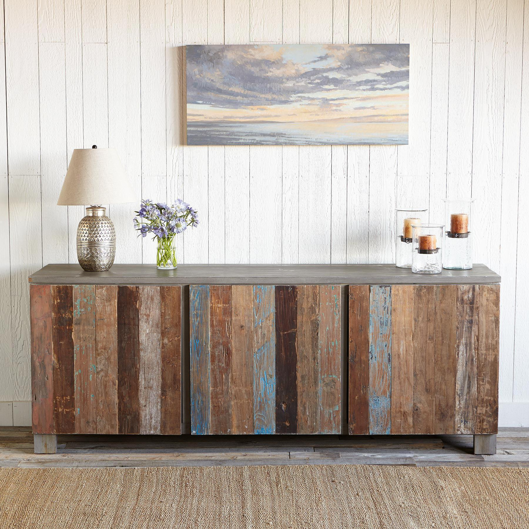 RECLAIMED BARNWOOD LARGE CONSOLE: View 2