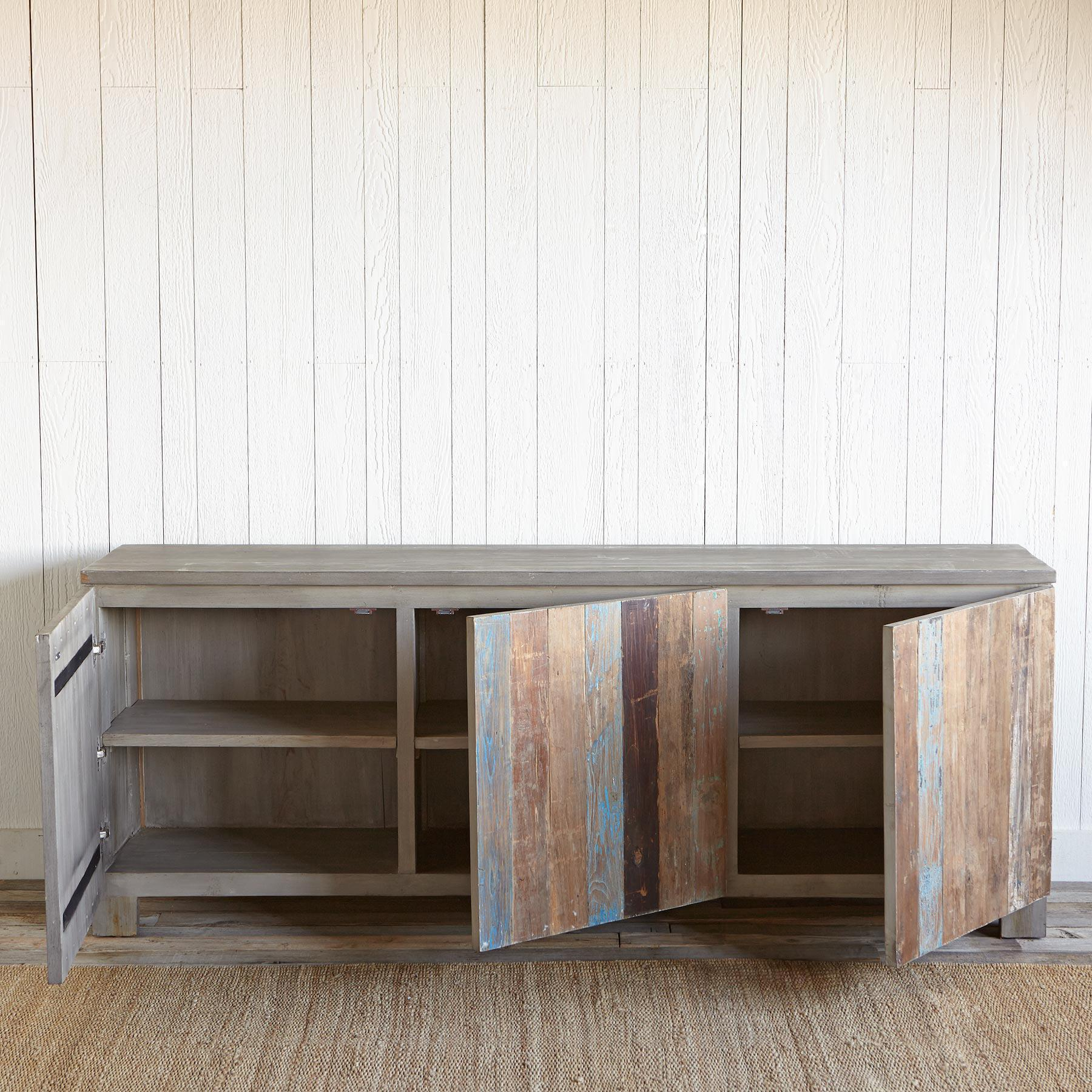 RECLAIMED BARNWOOD LARGE CONSOLE: View 3
