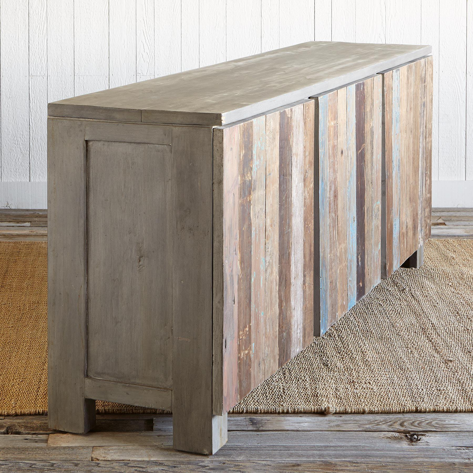 RECLAIMED BARNWOOD LARGE CONSOLE: View 4