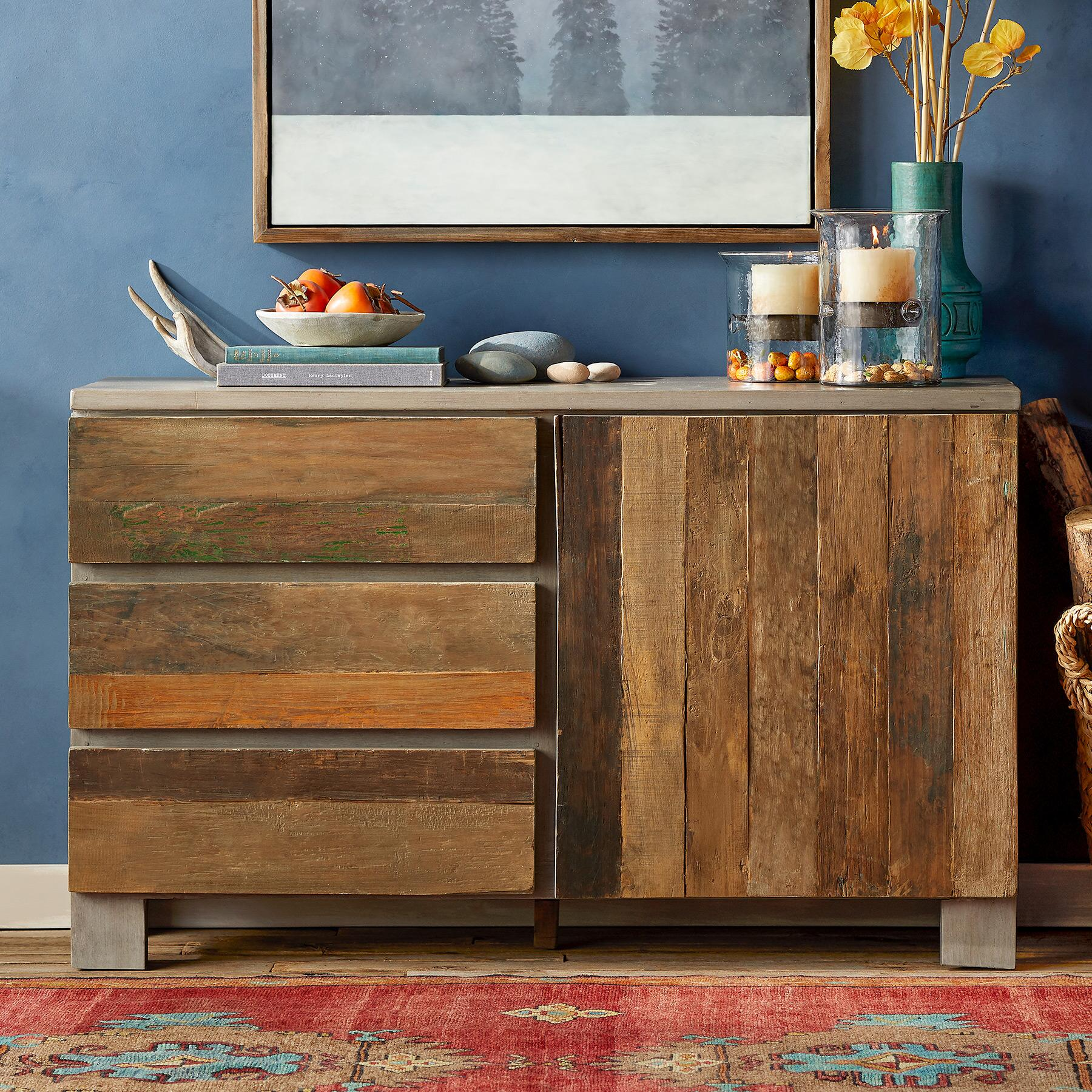 RECLAIMED BARNWOOD SMALL CONSOLE: View 1