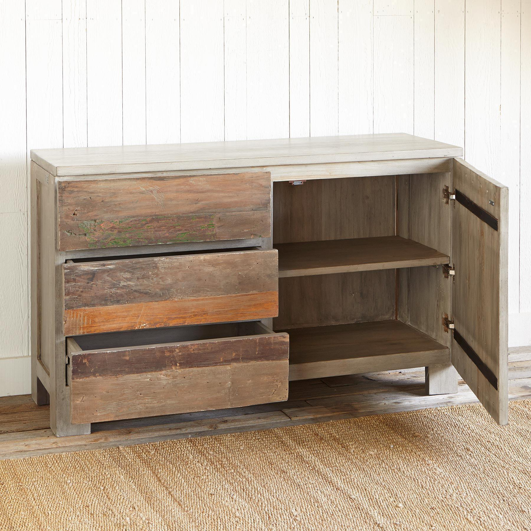 RECLAIMED BARNWOOD SMALL CONSOLE: View 2