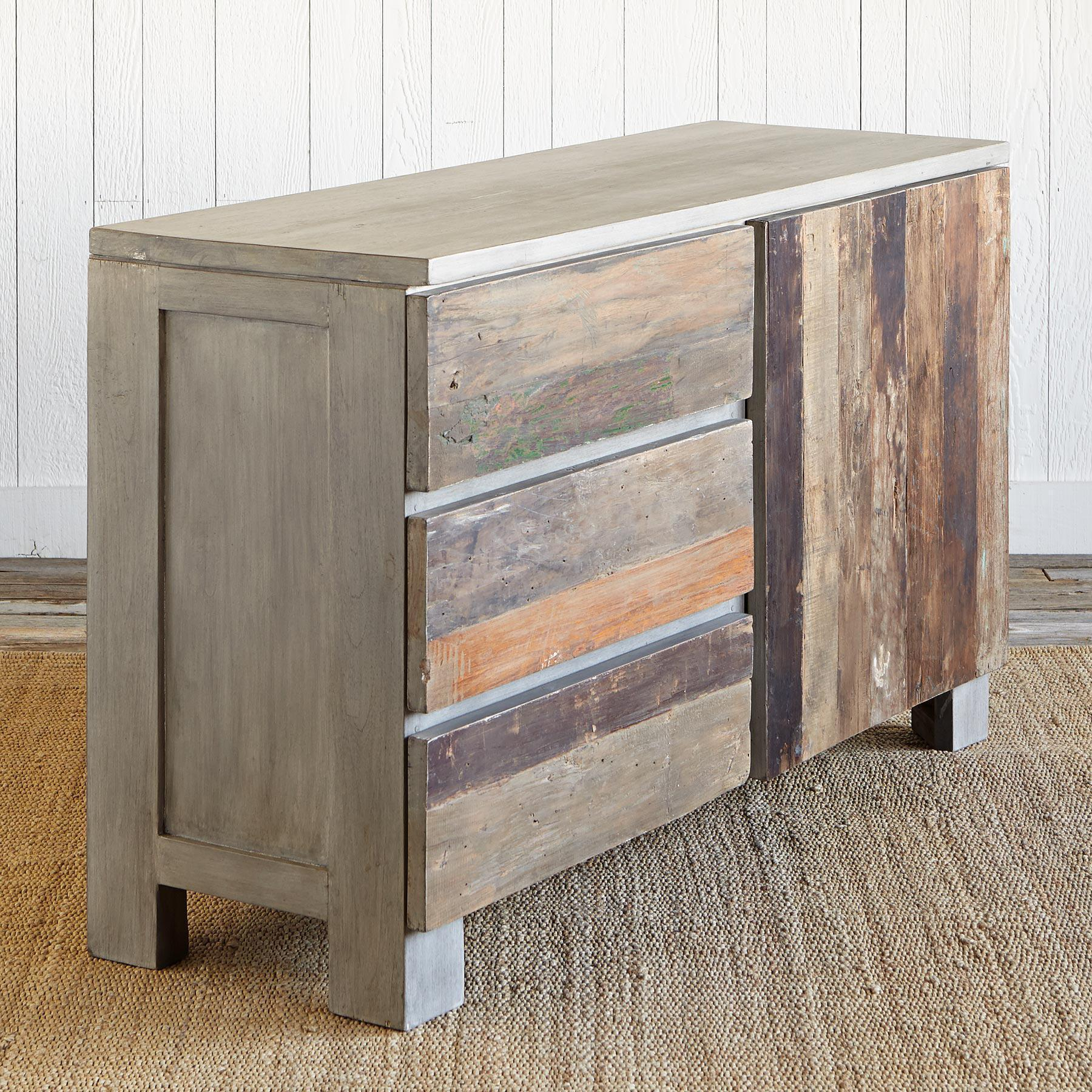 RECLAIMED BARNWOOD SMALL CONSOLE: View 3