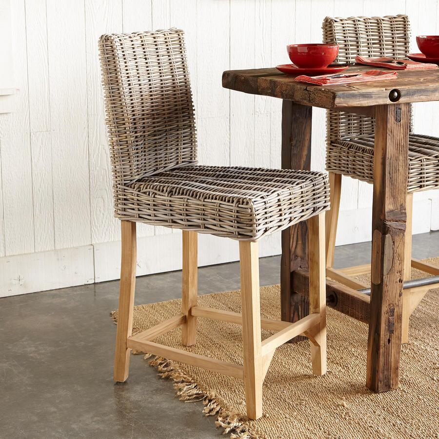 LOMBOK RATTAN COUNTER STOOL