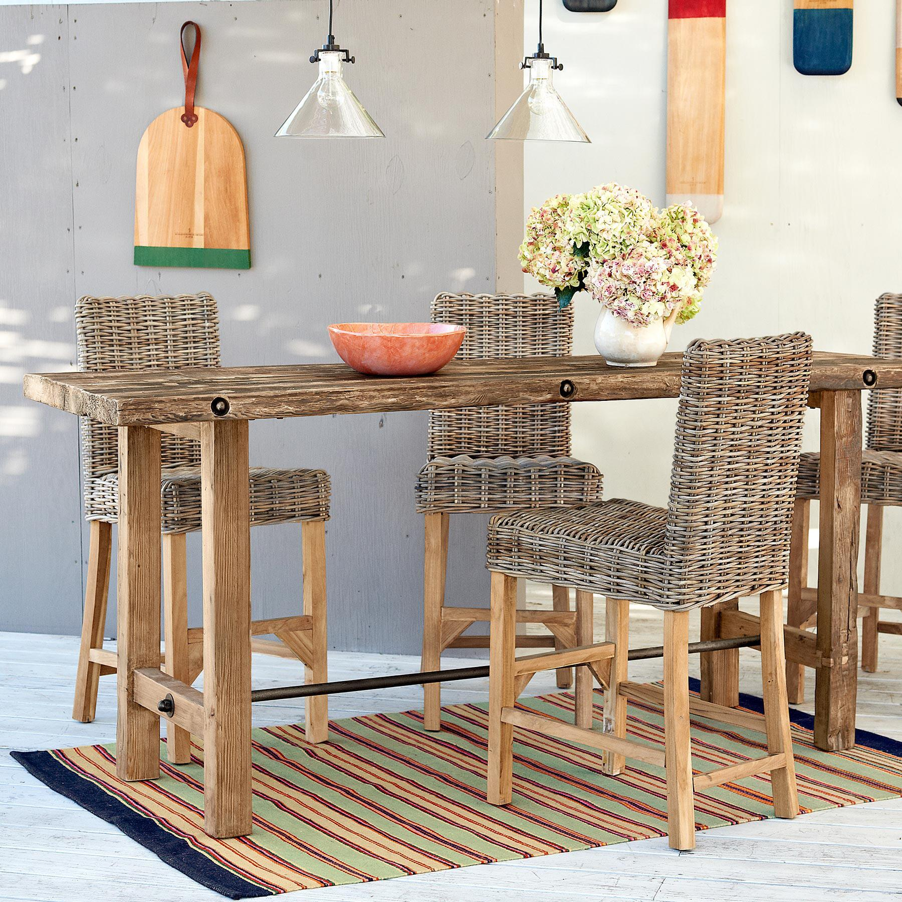 LOMBOK RATTAN COUNTER STOOL: View 2