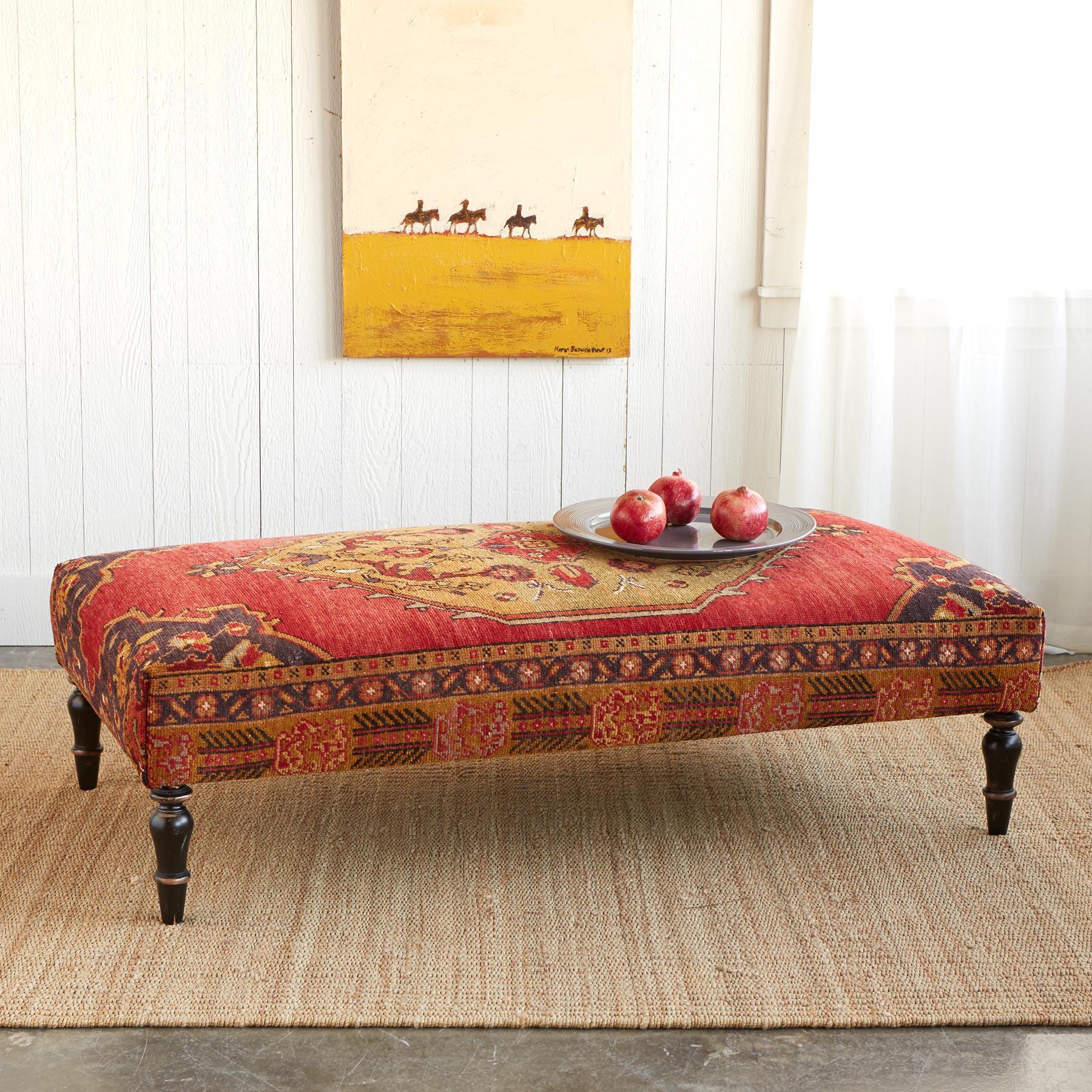 IZMIR TURKISH CARPET OTTOMAN: View 1