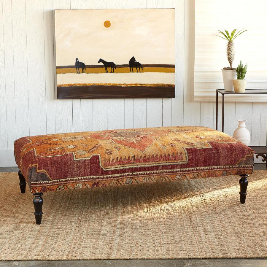 PERGAMUM TURKISH CARPET OTTOMAN