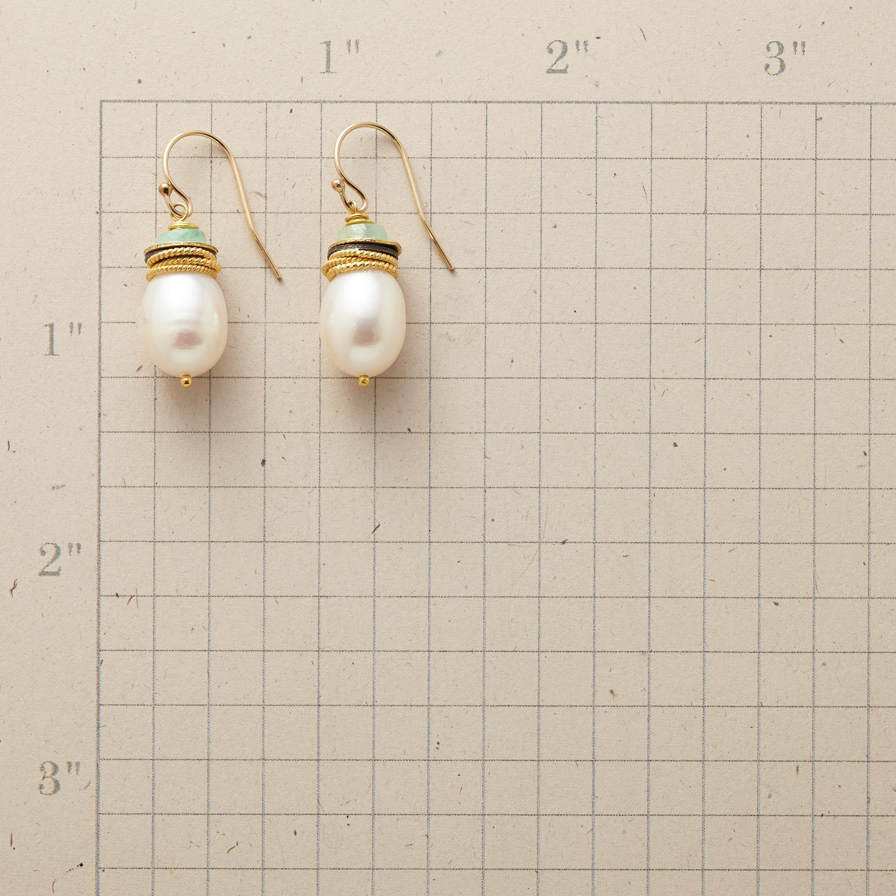EMERALD CAPPED EARRINGS: View 2