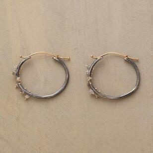 RAW DIAMOND CLUSTER HOOPS