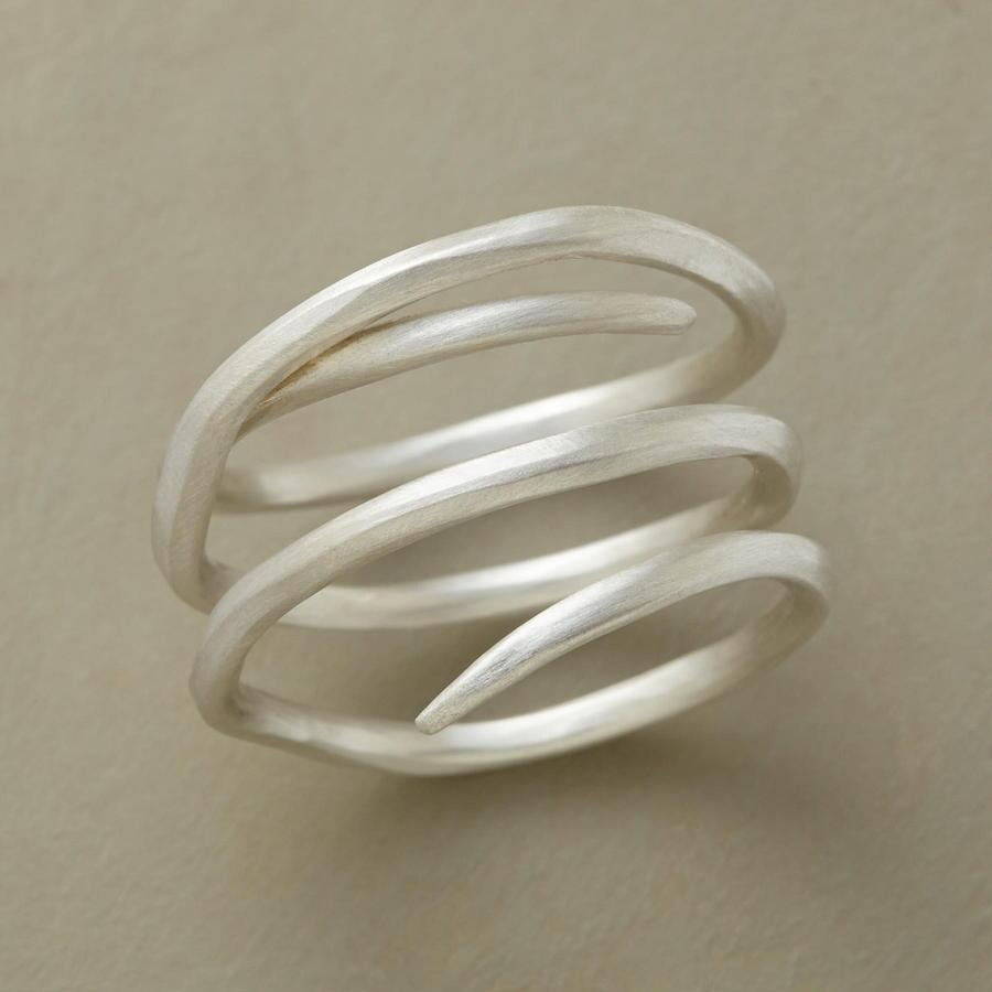 SILVERY SNAKE RING