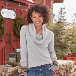 SWEET SENTIMENTS CASHMERE COWL-NECK - PETITES