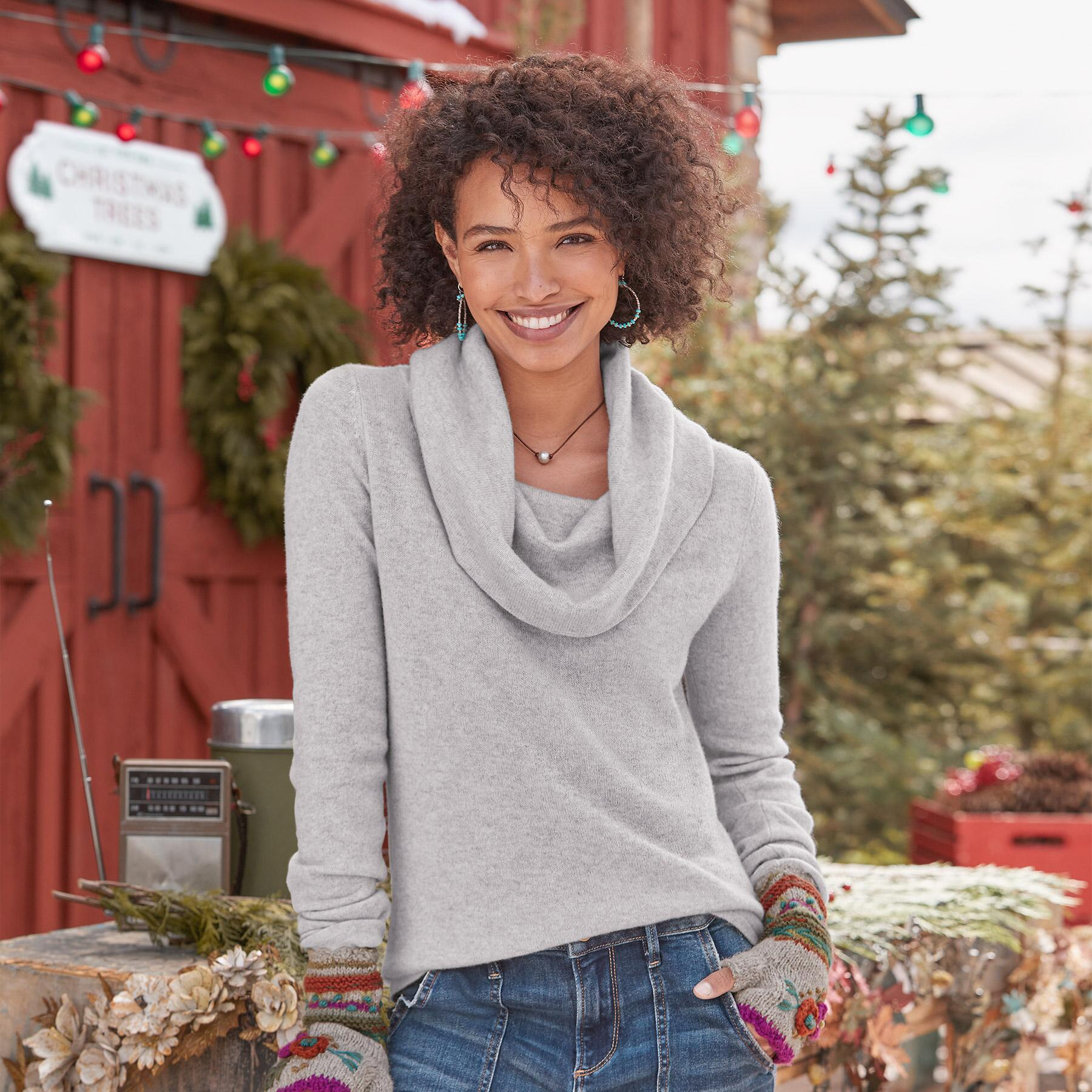 SWEET SENTIMENTS CASHMERE COWL-NECK - PETITES: View 1
