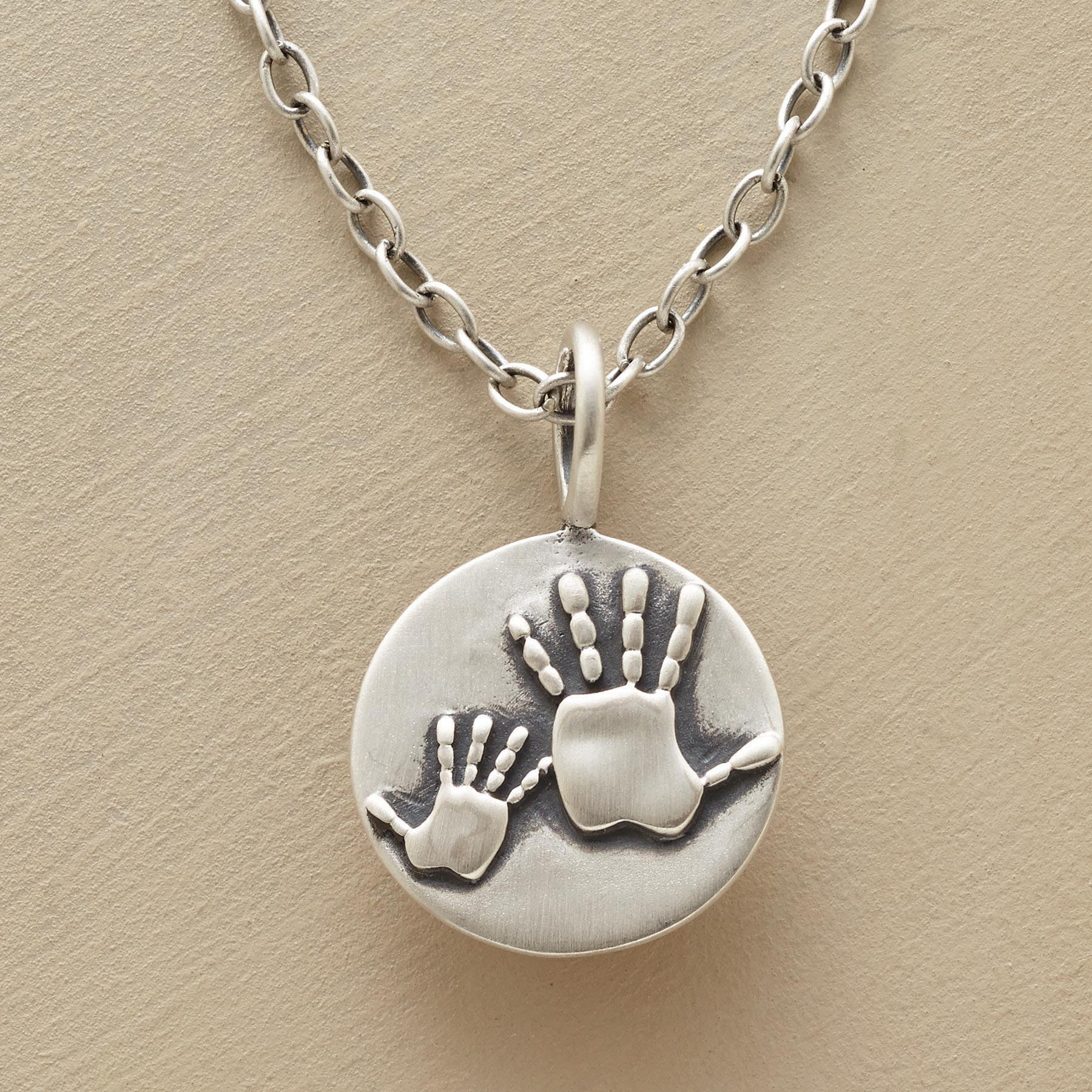 MOTHER & CHILD HANDPRINTS NECKLACE: View 1