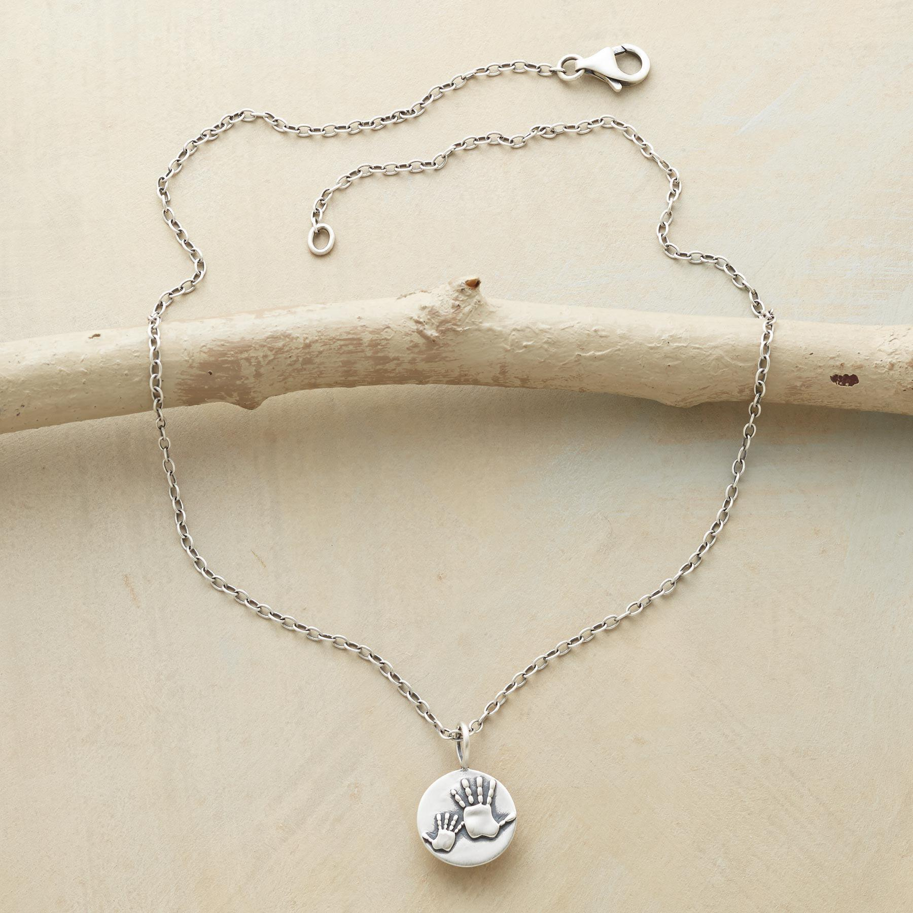 MOTHER & CHILD HANDPRINTS NECKLACE: View 2