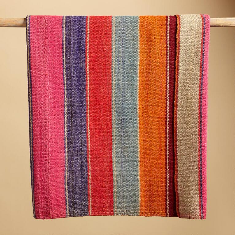 ONE OF A KIND BOLIVIAN TIRAQUE THROW